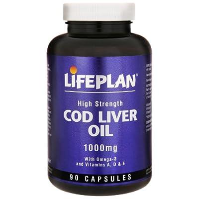 Lifeplan High Strength Cod Liver Oil 1000 mg 90 Capsules