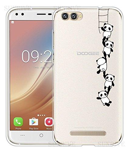 Für DOOGEE X30 Hülle Silikon,Sunrive Handyhülle Schutzhülle Etui Case Backcover für DOOGEE X30(tpu Panda 1)+Gratis Universal Eingabestift