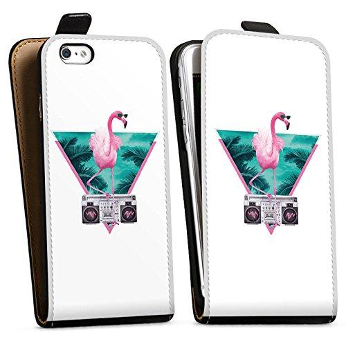 Apple iPhone X Silikon Hülle Case Schutzhülle Flamingo Dreieck Disco Downflip Tasche schwarz