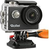 Rollei Actioncam 426 - Full HD Video Auflösung, Weitwinkel-Objektiv, bis 40 m wasserfest, integriertes WiFi, inkl. Unterwasserschutzgehäuse und kabelloser Handgelenks-Fernbedienung - schwarz