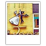 Pickmotion PolaCards Köln: Hochwertige Polaroid Postkarten im Retro Stil - Motiv: Engtanz