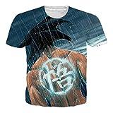 OPCOLV Camiseta para Hombre Dragon Ball Z Camiseta para Hombre Impresión 3D de Manga Corta Pullover Gym Sudadera Entrenamiento Camiseta Tops