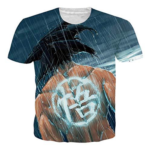 OPCOLV Unisex Dragon Ball Z T-Shirt Cooles 3D Druck Kurzarm T-Shirt Gymnastik laufendes Sweatshirt T-Shirt