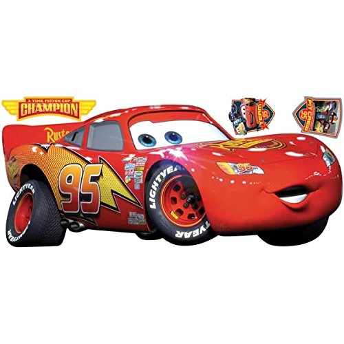 Image of RoomMates Disney Cars Lightning McQueen Giant Wall Stickers