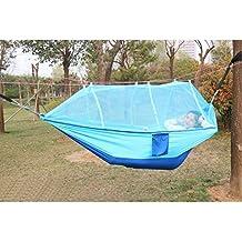 Xcellent Global hamaca con mosquitera al aire libre para acampar Hamaca de nylon de paracaídas SP039