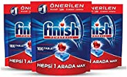 Finish Dishwasher Detergent Tablets, All in One MAX, 300 Tablets (pack of 3)