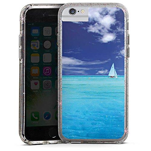 Apple iPhone 6 Bumper Hülle Bumper Case Glitzer Hülle Karibik Ocean Meer Bumper Case Glitzer rose gold