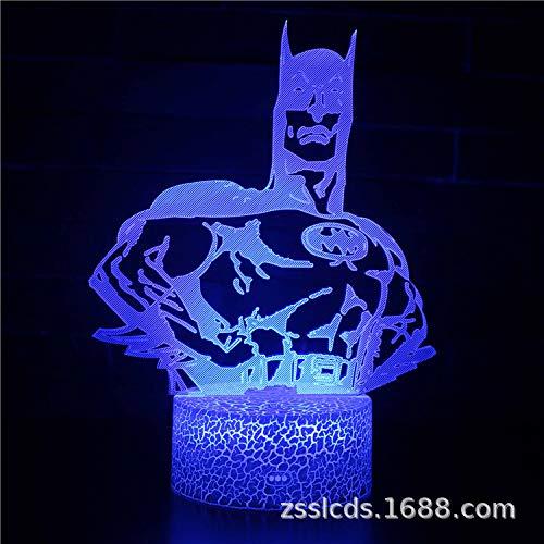 Home Office Dekoration Batman Jack Serie 3d Tischlampe kreative visuelle Licht bunt Touch Nachtlicht Geschenk Licht -
