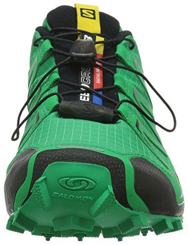 Salomon Herren Speedcross 3 Traillaufschuhe Real Green/Tomato Red/Black