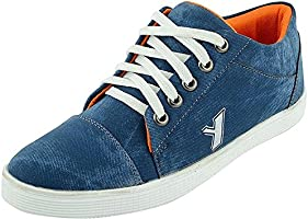 T-Rock Men's Blue Denim Sneaker Shoes (9, Blue)