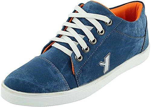 T-Rock Men's Blue Denim Sneaker Shoes (9, Blue)