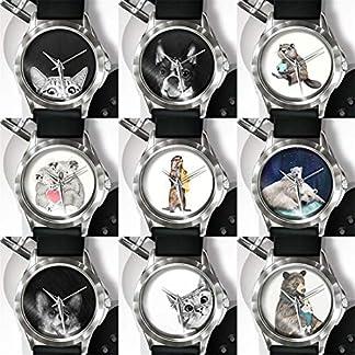 Godagoda-Unisex-Armbanduhr-Silikon-Band-Cartoon-Tier-Gedruckt-Dekoriert-Frauen-Herren-Studenten-Wasserdicht-Quarzuhr