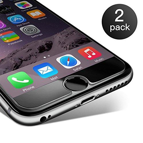 Coolreall Protection écran iphone6/6s en Verre trempé 2-Pack Film Vitre Protecteur résistant (0,25mm HD Ultra Transparent) (Transparent)