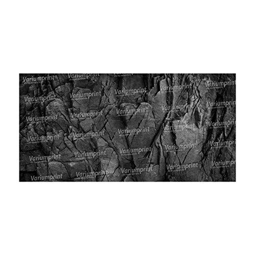 Variumprint die Aquariumfolie Aquarium Rückwandfolie Rückwand Selbstklebend mit Motiv Fotorückwand Black Stone VMO-0107 (B 80 x H 40 cm)