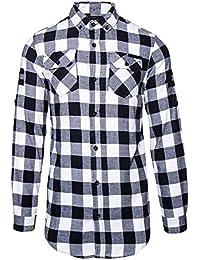 Camisa Criminal Damage Jack 74 Checked (Negro/Rojo)