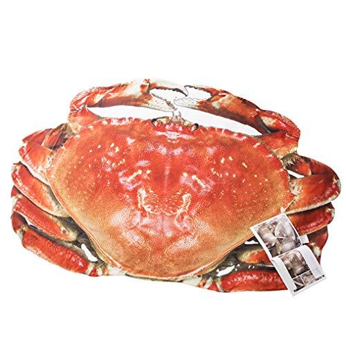 LMXJB Meeresfrüchte 3D Druckt Lustige Steppdecke Krabben- Und Hummer-Geformte Wurfs-Decke Summer Lightweight Tröster Hypoallergene Mikrofaserbettwäsche Doppel/Königin (Rot),Crab,170×235cm -