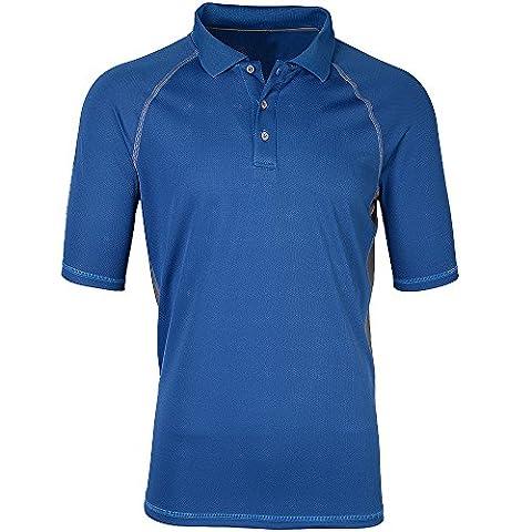 Moheen Men's Short Sleeves Collar Polo T Shirt Blue
