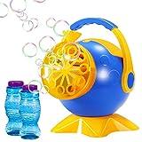Geekper Macchina per bolle, sparabolle automatico sparabolle duraturo con 2 bottiglie di bolle Soluzione di ricarica, oltre 800 bolle colorate al minuto
