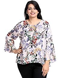 d80b4c3959f The Pink Moon Plus Size Western Floral Top for Women