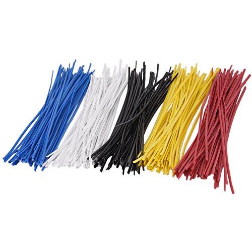 Sunmns- Brides en fil métallique coloré pour câbles, réutilisables, 15 cm environ, lot de 250