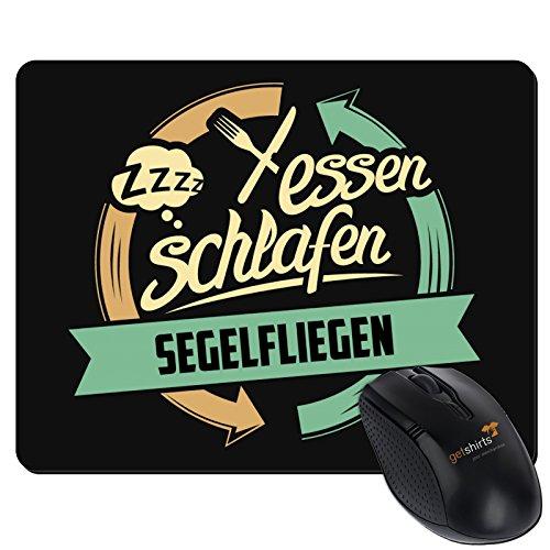 getshirts - RAHMENLOS® Geschenke - Mousepad - Sport Segelfliegen - schwarz uni