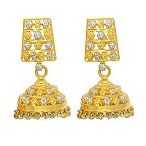 Popleys 22k (916) Yellow Gold Jhumki Earrings