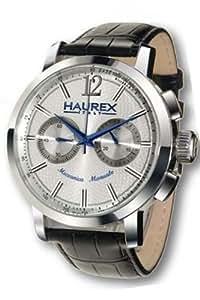 Haurex Italy Herrenuhr Maestro Silver Dial Watch #CA330USS