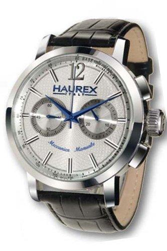 HAUREX ITALY Maestro Silver Dial Watch #CA330USS- Orologio da uomo