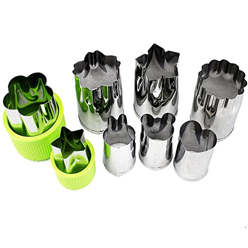Gemüse Schere Formen Form Set (8 Stück) - Mini Cookie Ausstechformen Pie Kruste Obst Keks Formen Ausstecher Form