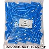 100pieza cable Guantes Azul 1,5–2,5mm² Conectores