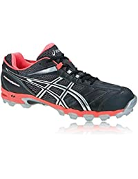 ASICS Gel-Hockey Typhoon Zapatilla de Hockey Señora, Plata/Negro, 40.5