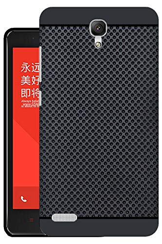 Hello Zone Exclusive Premium Quality Dotted Matte Finish Soft Rubberised Back Case Cover For Xiaomi MI Redmi NOTE 4G / NOTE PRIME - Black - Black