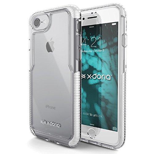 iPhone 7 Case , X-Doria Case (Impact Pro) pour iPhone 7 , Effacer Vu, Double Impact Absorption, caoutchouteux TPU & Poly-One Matériel, Premium de protection iPhone 7 Case(Rose) blanc
