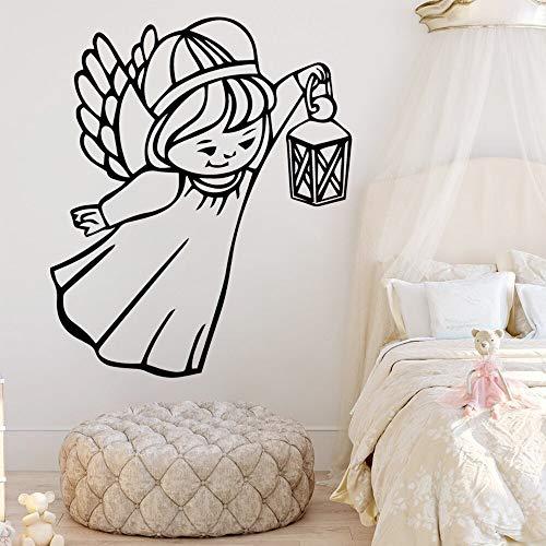 guijiumai Heißer Engel Cartoon mädchen wandkunst Aufkleber wandaufkleber PVC Material für kinderzimmer Wohnzimmer wohnkultur wasserdicht77X91CM