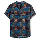 OGGI-T-shirt Maglietta da Uomo Estate da Spiaggia Semplice Casuali Camicia Asciugatura Veloce Comodo Manica Corta Moda Spiaggia Vacanza Tee Camicia Hawaiana