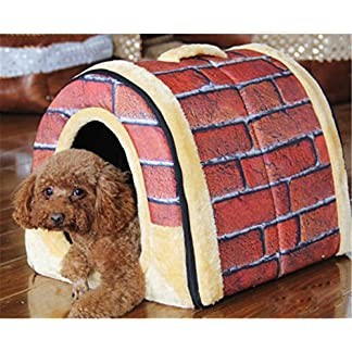 2 In 1 Pet House and Sofa, Very Warm Insulated Padded Cosy Cave Bed house Dog Cat Kitten 51haIsmKOjL