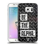 Head Case Designs Be The Alpha Fitness Typographie Soft Gel Hülle für Samsung Galaxy S6 Edge