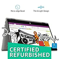 (CERTIFIED REFURBISHED) HP Pavilion x360 Intel Core i7 8th Gen 14-inch Touchscreen 2-in-1 FHD Thin and Light Laptop (12GB/512GB SSD/Windows 10 Home/MS Office/4GB Graphics/Mineral Silver/1.59 kg), cd0056TX