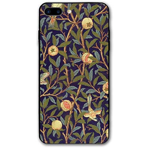 Morris Bird (HNJZ-GS William Morris Bird und Granatapfel Vintage Floral iPhone 7 Plus 8 Plus 7/8 Plus Handyhülle Thema dekorative Handyzubehör)