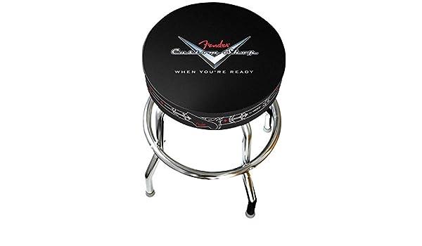 Fender custom shop tripe sgabello di bar nero amazon
