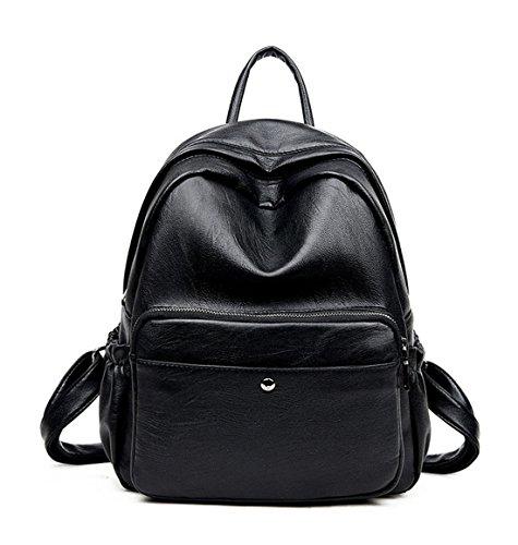 Pu Niedlich Damen accessories hohe Qualität Einfache Tasche Schultertasche Freizeitrucksack Tasche Rucksäcke Tiefblau Keshi IfV0l7