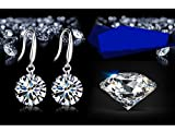 Yidarton 925 Silver Plating Diamond Crystal Elements Drop Earings for Women with Gift Box