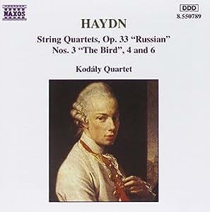 Haydn : Quatuors à cordes Op. 33 n° 3, 4 et 6