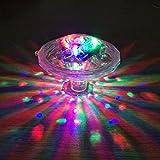 AZX AZX LED Unterwasserlicht Badewannenlicht Teich Pool Bunte Schwimmende Lampe Wasserdicht Party Glow Nachtlichter Unterwasser Disco Beleuchtung Licht 7 Beleuchtung Modi