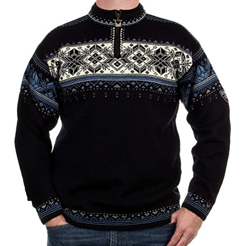 Dale of Norway Herren Blyfjell Sweater Navy/China Blue/Off White/Cooper