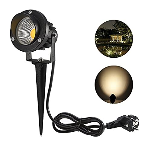 ProGreen 5W COB LED Spot Éclairage extérieur à piquer, 3000K