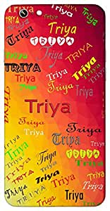 Triya (Young girl) Name & Sign Printed All over customize & Personalized!! Protective back cover for your Smart Phone : Moto G-4