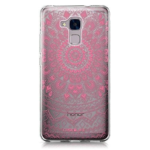 CASEiLIKE® Honor 5C Hülle, Honor 5C TPU Schutzhülle Tasche Case Cover, Indische Linie Kunst 2062, Kratzfest Weich Flexibel Silikon für Huawei Honor 5C/Honor 7 Lite/GT3