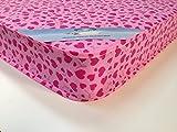 MR SLEEPS BEDS LIMITED Loveheart mattress 3ft (90cm) Width/6ft3 (190 cm) Standard Length/6.5 inches Depth (16.5cm) Pink love heart