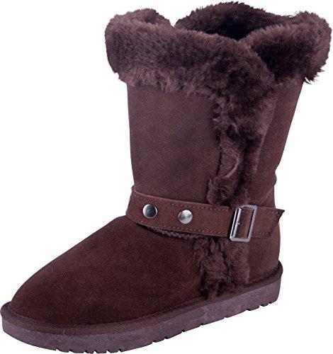 Almwerk Damen Winter-Stiefel Boots Schlupf-Stiefel aus Echtleder warm gefüttert in verscheidenen Farben, Schuhgröße:39, ()